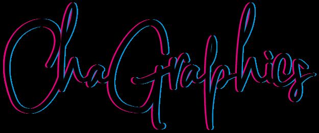 Logo ChaGraphics réalisé pour et par Charlène VERRIER avec toutes ses couleurs